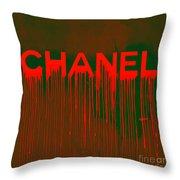 Chanel Plakative Fashion - Neon Weave Throw Pillow