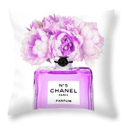 Chanel Print Chanel Poster Chanel Peony Flower Throw Pillow