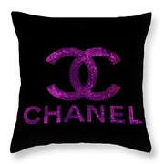 Chanel Print Throw Pillow