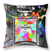 Chanel Rainbow Colors Throw Pillow