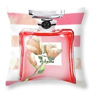 Chanel Red Flower Throw Pillow