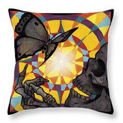 Change Mandala Throw Pillow by Deadcharming Art