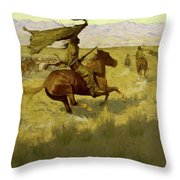 Change Of Ownership -the Stampede Horse Thieves Throw Pillow