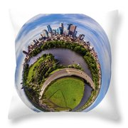 Change Your Perspective Minneapolis White Surround Throw Pillow