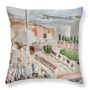 Changing Cityscape Slough Throw Pillow