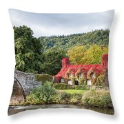 Changing Colours Of Tu Hwnt I'r Bont Throw Pillow