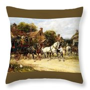 Changing Horses Throw Pillow
