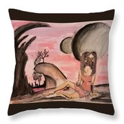 Changing Moons Throw Pillow