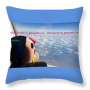 Changing My Perspective Throw Pillow