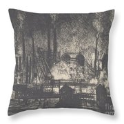 Changing Shifts, Charleroi Throw Pillow