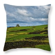 Changing Skies And Landscape Throw Pillow
