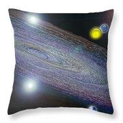 Changing Universe Throw Pillow