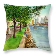 Channel Drive Tampa Florida Throw Pillow