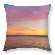Channel Islands And Pacific At Sunset Throw Pillow