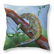 Channel Islands Night Lizard Throw Pillow