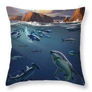 Channel Islands Sharks Throw Pillow