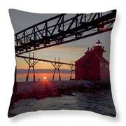 Channel Light, Dawn Throw Pillow