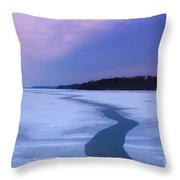 Channel Through The Ice Throw Pillow
