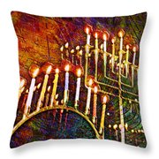 Chanukiah Throw Pillow