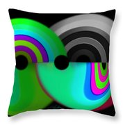 Chaos Balls Throw Pillow