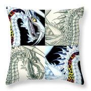 Chaos Dragon Fact W Fiction Throw Pillow