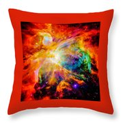 Chaos In Orion Throw Pillow