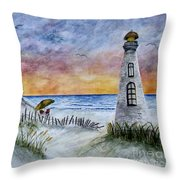 Chaos In The Sky Throw Pillow