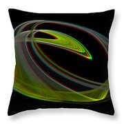 Chaoscope Design 3 - Use Red-cyan 3d Glasses Throw Pillow