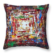 Chaotic Bliss Throw Pillow