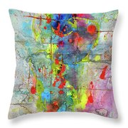 Chaotic Craziness Series 1989.033014 Throw Pillow