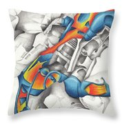 Chaotic Creation Throw Pillow