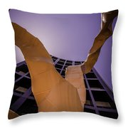Chaotic Emergence Throw Pillow