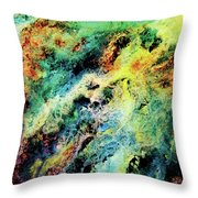 Chaotic Play Of Color Throw Pillow