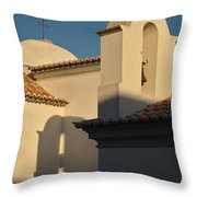 Chapel Architecture In Albufeira Throw Pillow