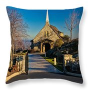 Chapel At Glassy Throw Pillow