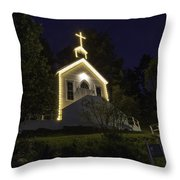 Chapel At Roche Harbor Throw Pillow