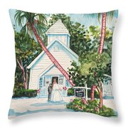 Chapel By The Sea Captiva Throw Pillow