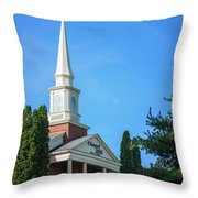 Chapel Hill Golf Course Clubhouse Throw Pillow