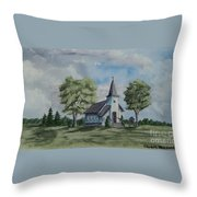 Chapel In Summer Throw Pillow