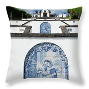 Chapel In The Azores Throw Pillow