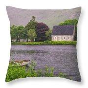 Chapel In The Mist - Gougane Barra - County Cork - Ireland Throw Pillow
