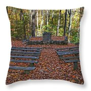 The Chapel In The Park Throw Pillow