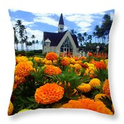 Chapel In The Sky Throw Pillow