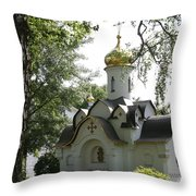 Chapel In The Trees Throw Pillow