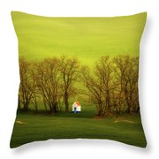 Chapel-in-trees Throw Pillow