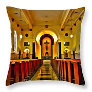 Chapel Interior I Throw Pillow