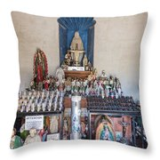 Chapel Mortuary Interior - San Xavier Del Bac Mission - Tucson Arizona Throw Pillow