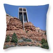 Chapel Of The Holy Cross - Arizona Throw Pillow