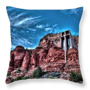 Chapel Of The Rock Throw Pillow