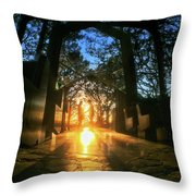 Chapel Sunset Throw Pillow